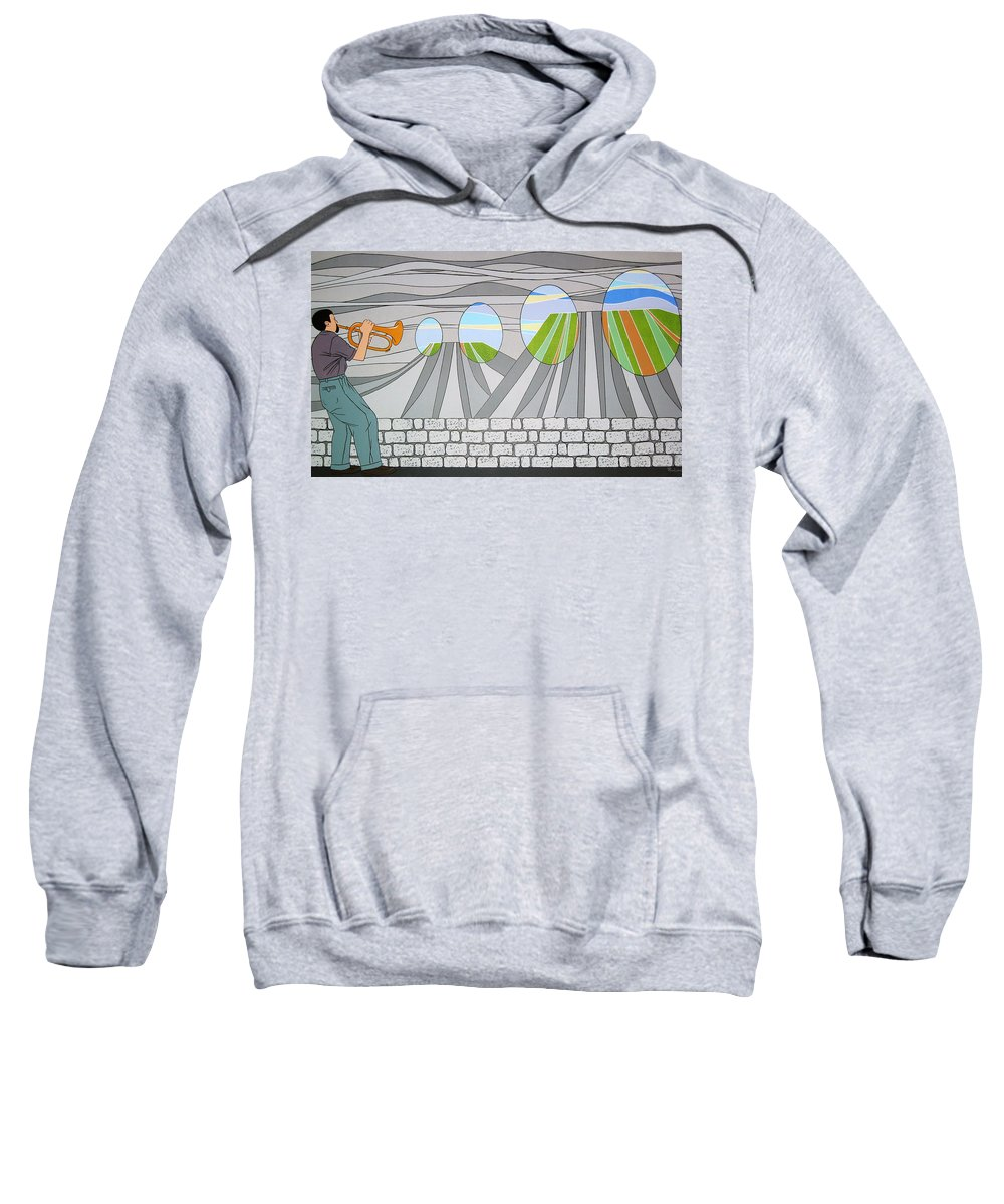 Trumpet Sweatshirt featuring the painting Candy Lips by Patricia Van Lubeck