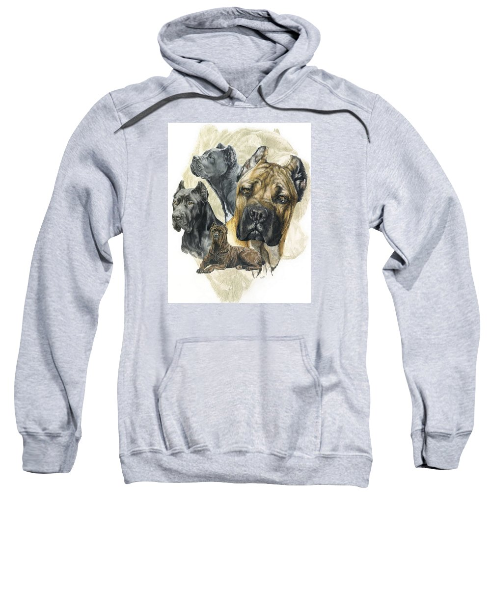 Working Sweatshirt featuring the mixed media Cane Corso W/ghost by Barbara Keith