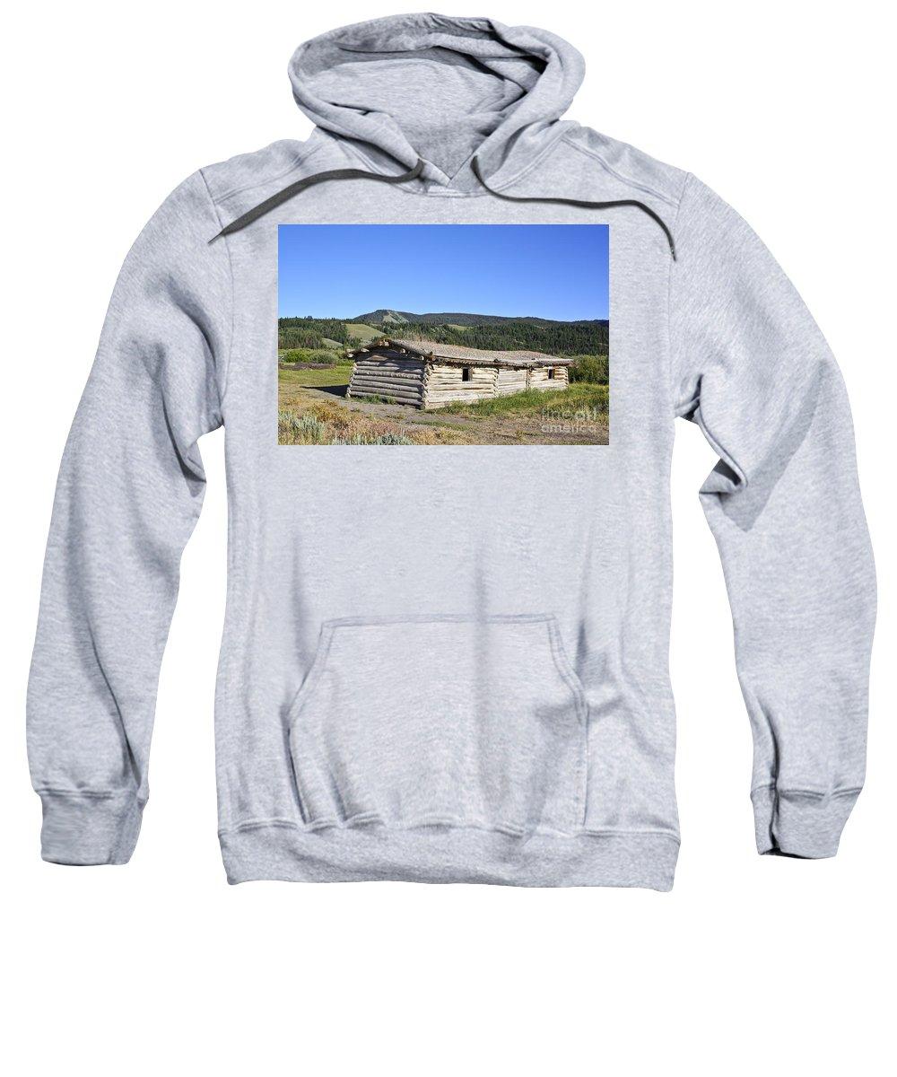Cabin Sweatshirt featuring the photograph Canningham Cabin Grand Tetons National Park by Teresa Zieba