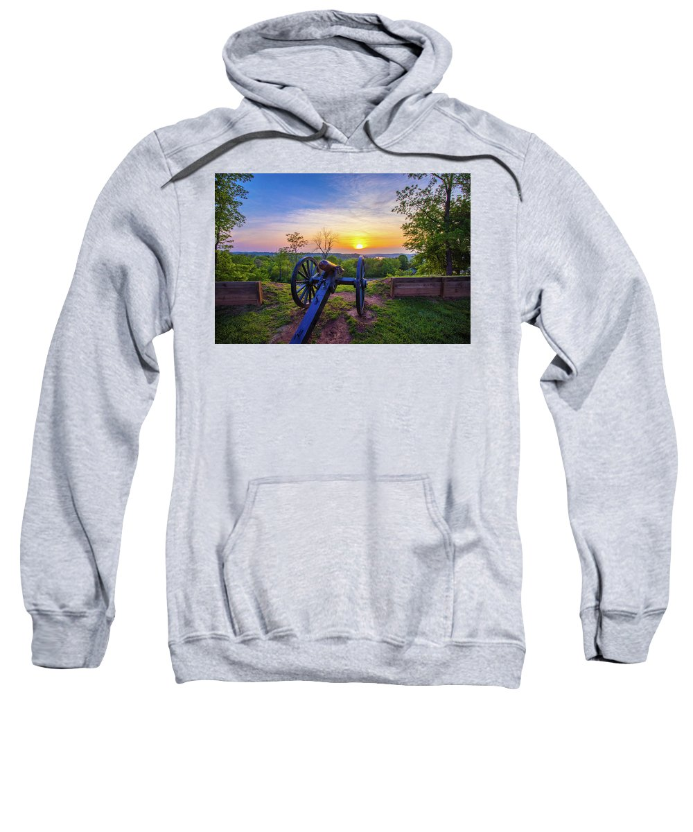 Boreman Sweatshirt featuring the photograph Cannon At Sunset by Jonny D