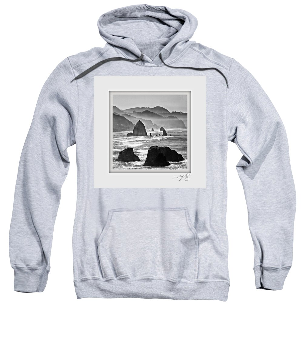 Columbia Gorge Sweatshirt featuring the photograph Cannon Beach 1 by Ingrid Smith-Johnsen