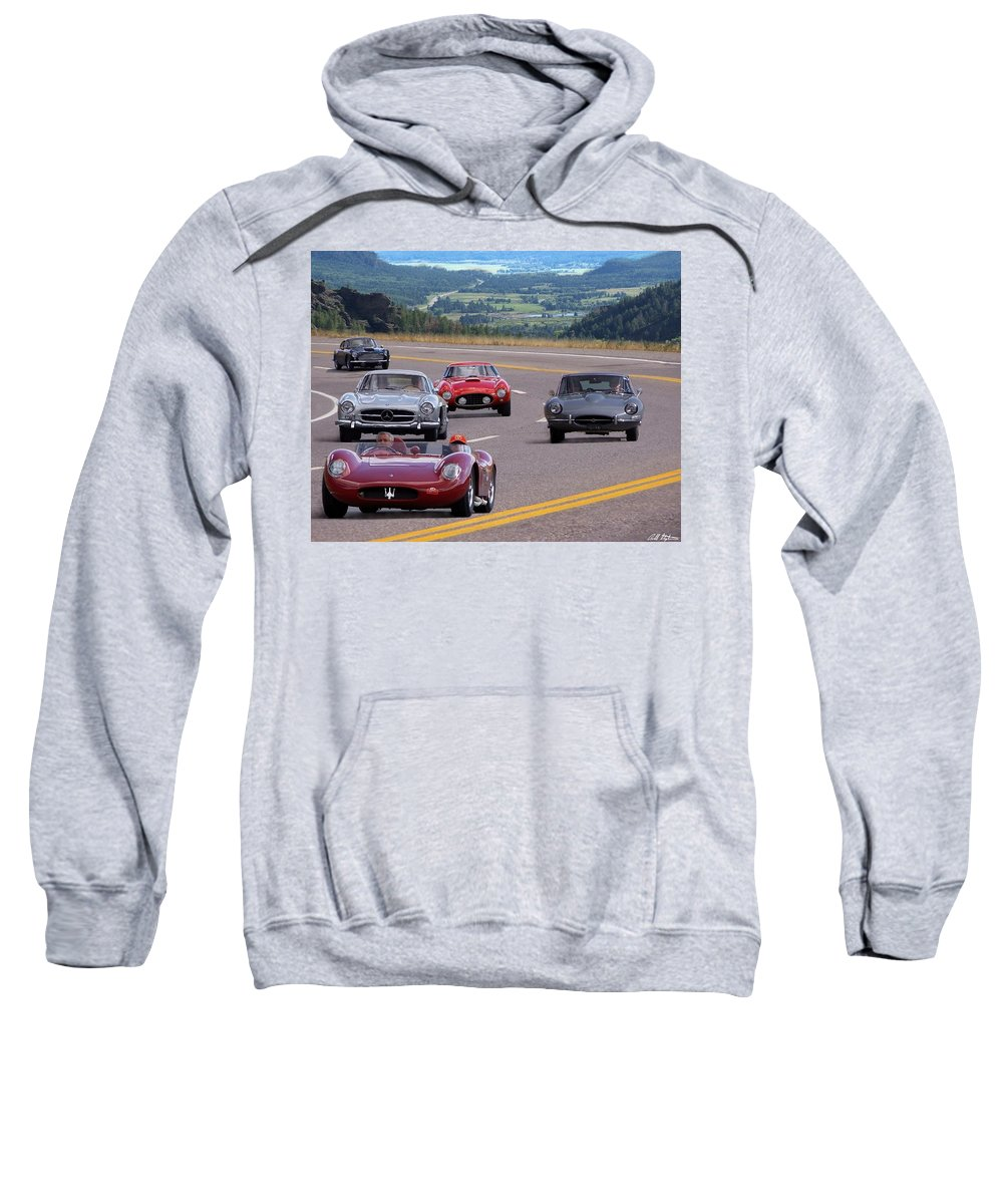 Cars Sweatshirt featuring the photograph Cannonball Rally by Barbara Stephens