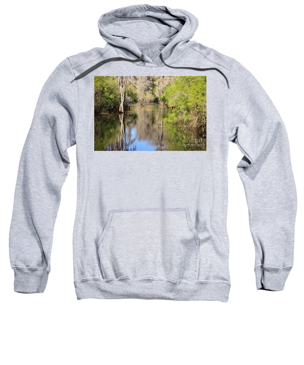Hillsborough River Sweatshirt featuring the photograph Canoing On Hillsborough River by Carol Groenen