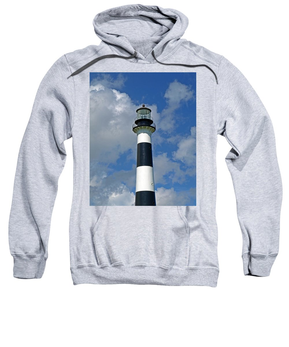 Lighthouse; Light; Canaveral; Cape; Cape Canaveral; Ccafs; Florida; East; Coast; Kennedy; Space; Cen Sweatshirt featuring the photograph Canveral Light Florida by Allan Hughes