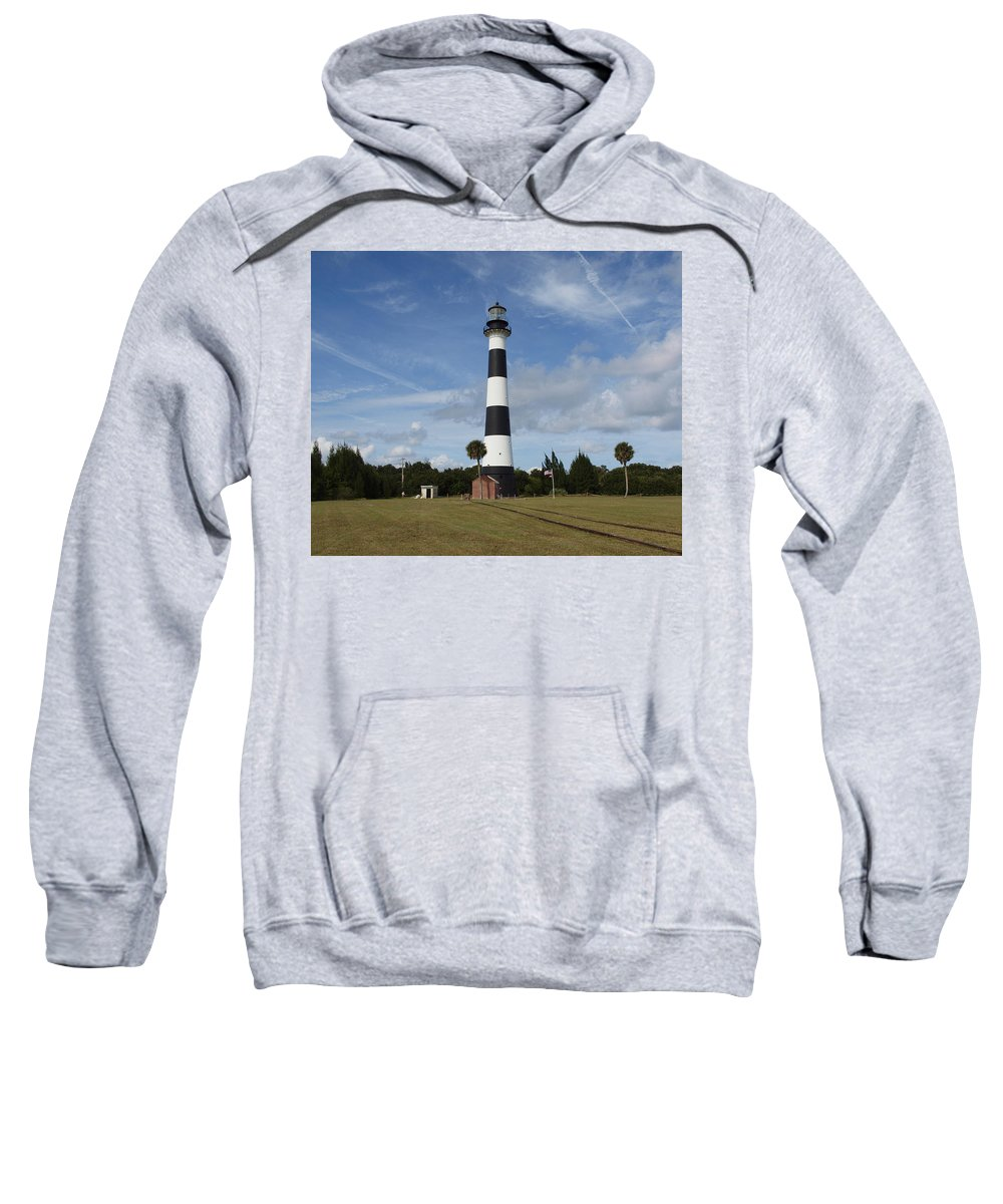 Landscape Sweatshirt featuring the photograph Cape Canaveral Florida Light by Allan Hughes