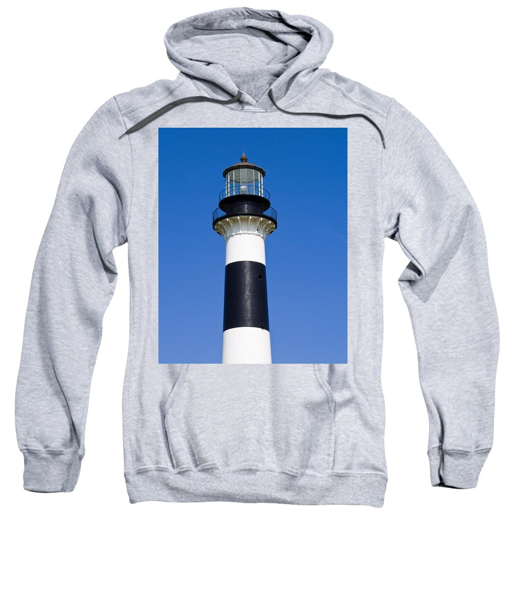 Cape; Canaveral; Light; Lighthouse; Florida; Keeper; Navigation; Usa; Atlantic; Kennedy; Space; Beac Sweatshirt featuring the photograph Cape Canaveral Lighthouse On The East Coast Of Florida by Allan Hughes
