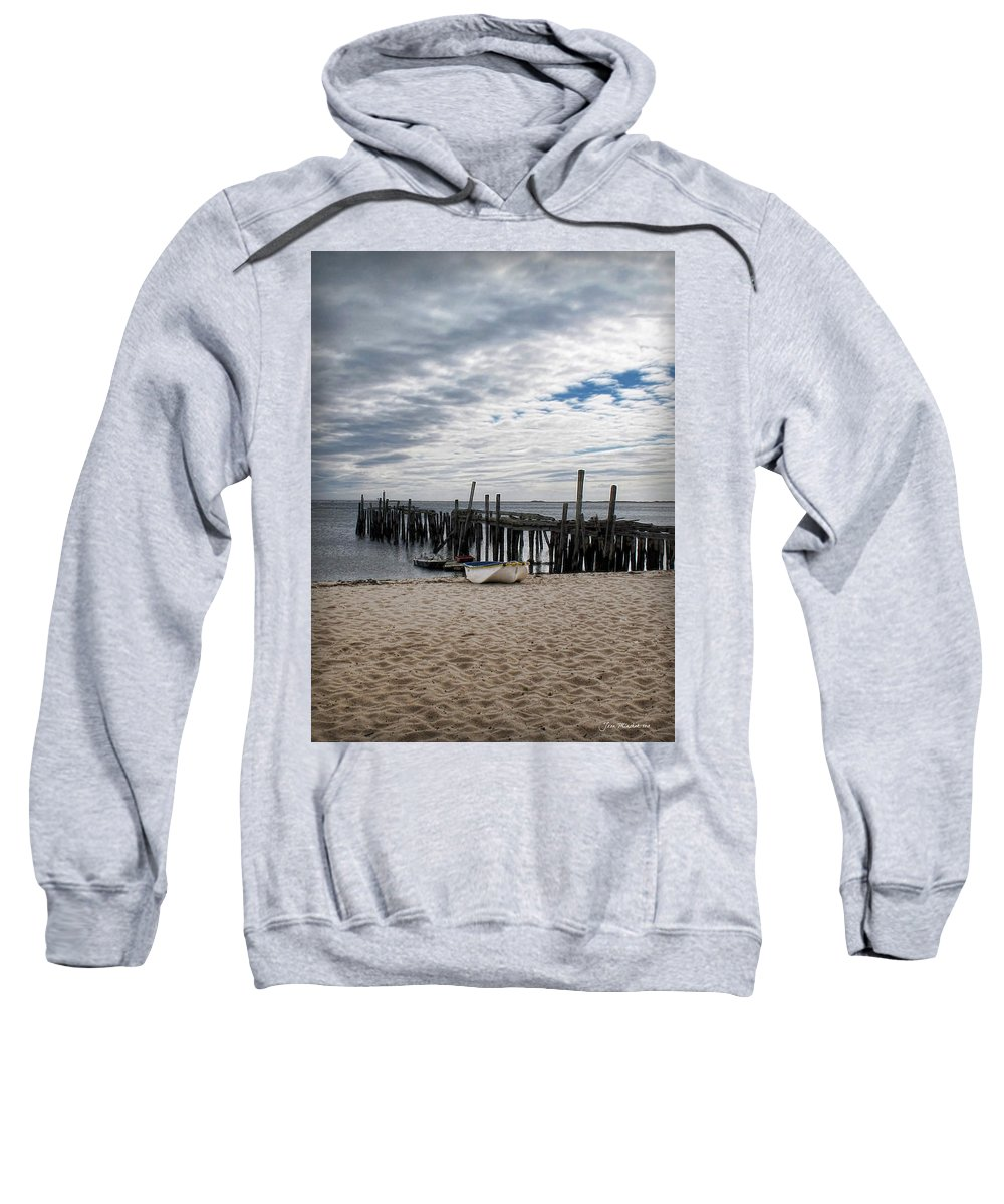 Cape Cod Sweatshirt featuring the digital art Cape Cod Bay by Joan Minchak