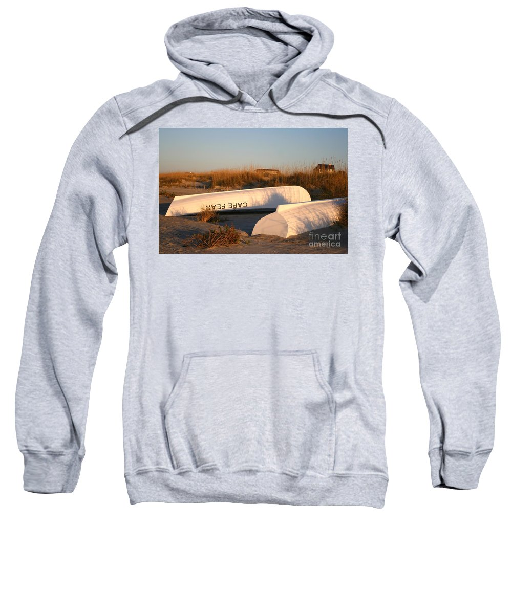 Boats Sweatshirt featuring the photograph Cape Fear Boats by Nadine Rippelmeyer