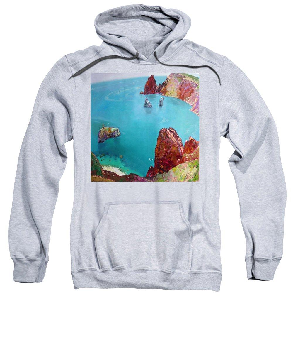 Ignatenko Sweatshirt featuring the painting Cape Fiolent by Sergey Ignatenko