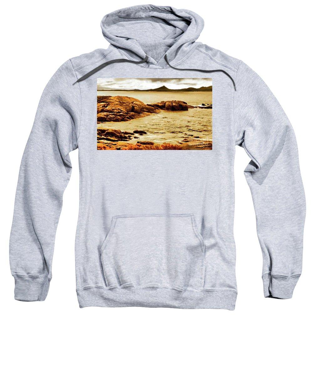 Digital Clone Painting Sweatshirt featuring the digital art Esperance Bay P by Tim Richards