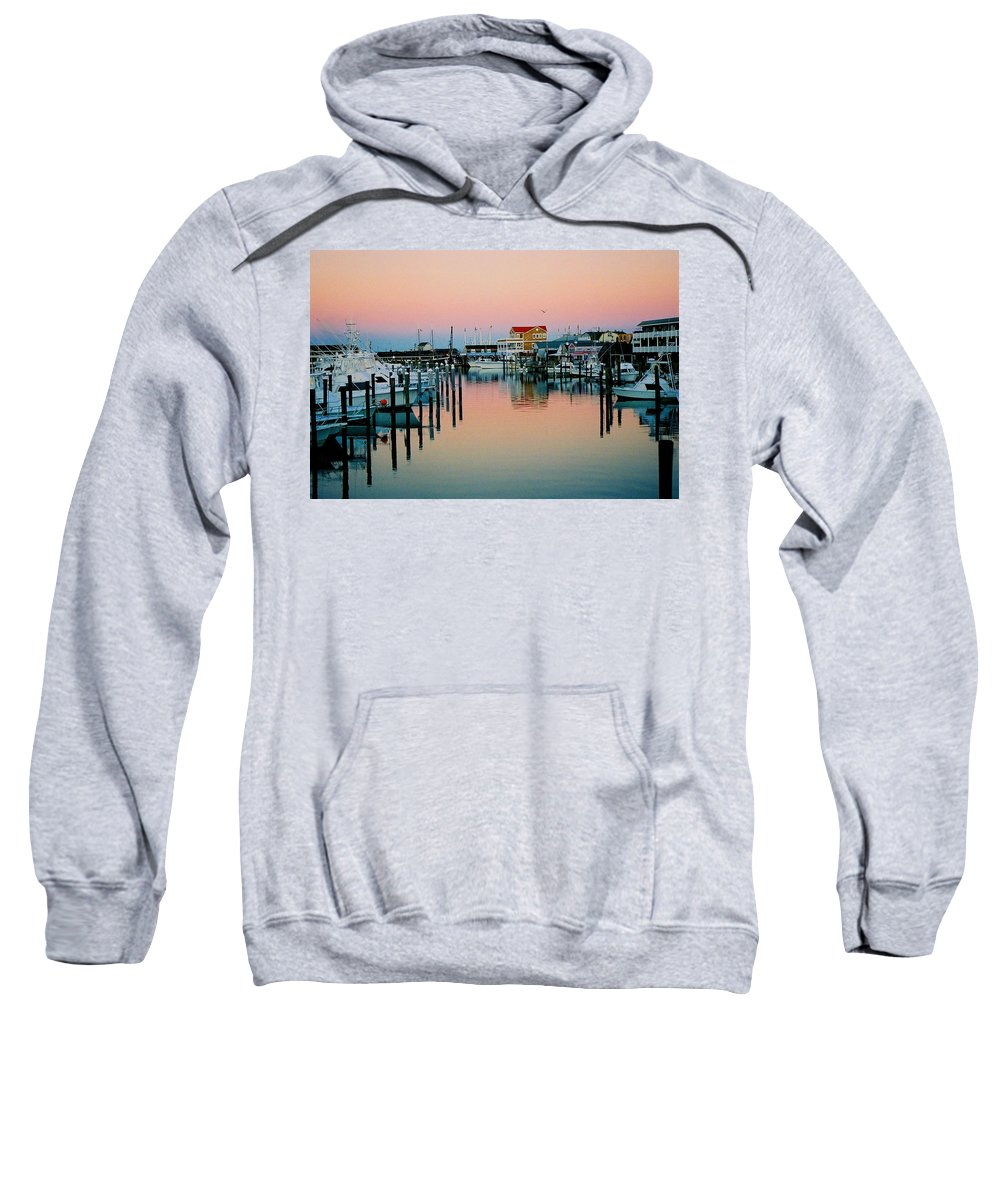 Cape May Sweatshirt featuring the photograph Cape May After Glow by Steve Karol