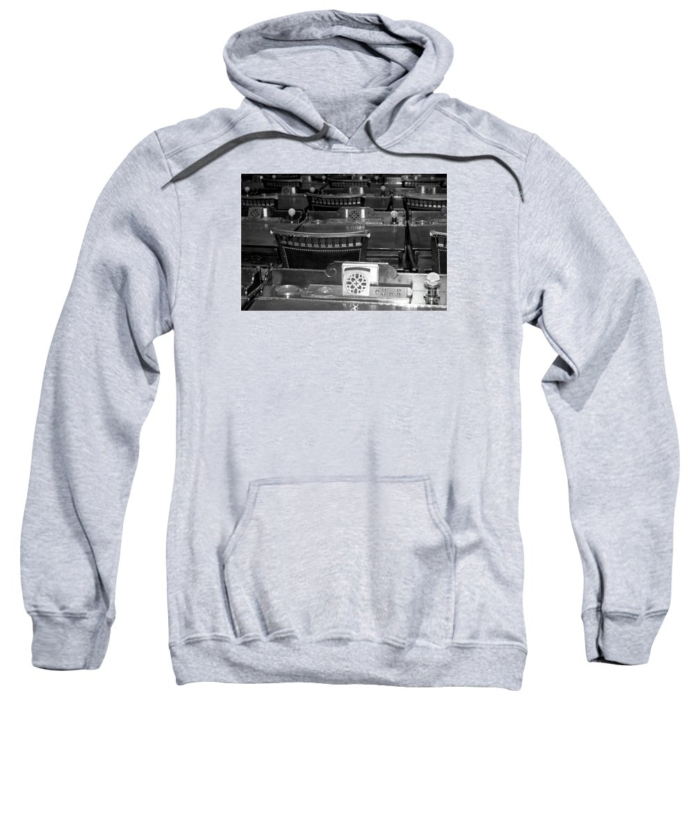 Sweatshirt featuring the photograph Capital Vote by Kelley Sims