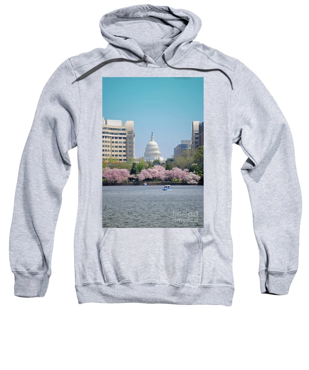 Cherry Sweatshirt featuring the photograph Capitol Blossoms by Jost Houk