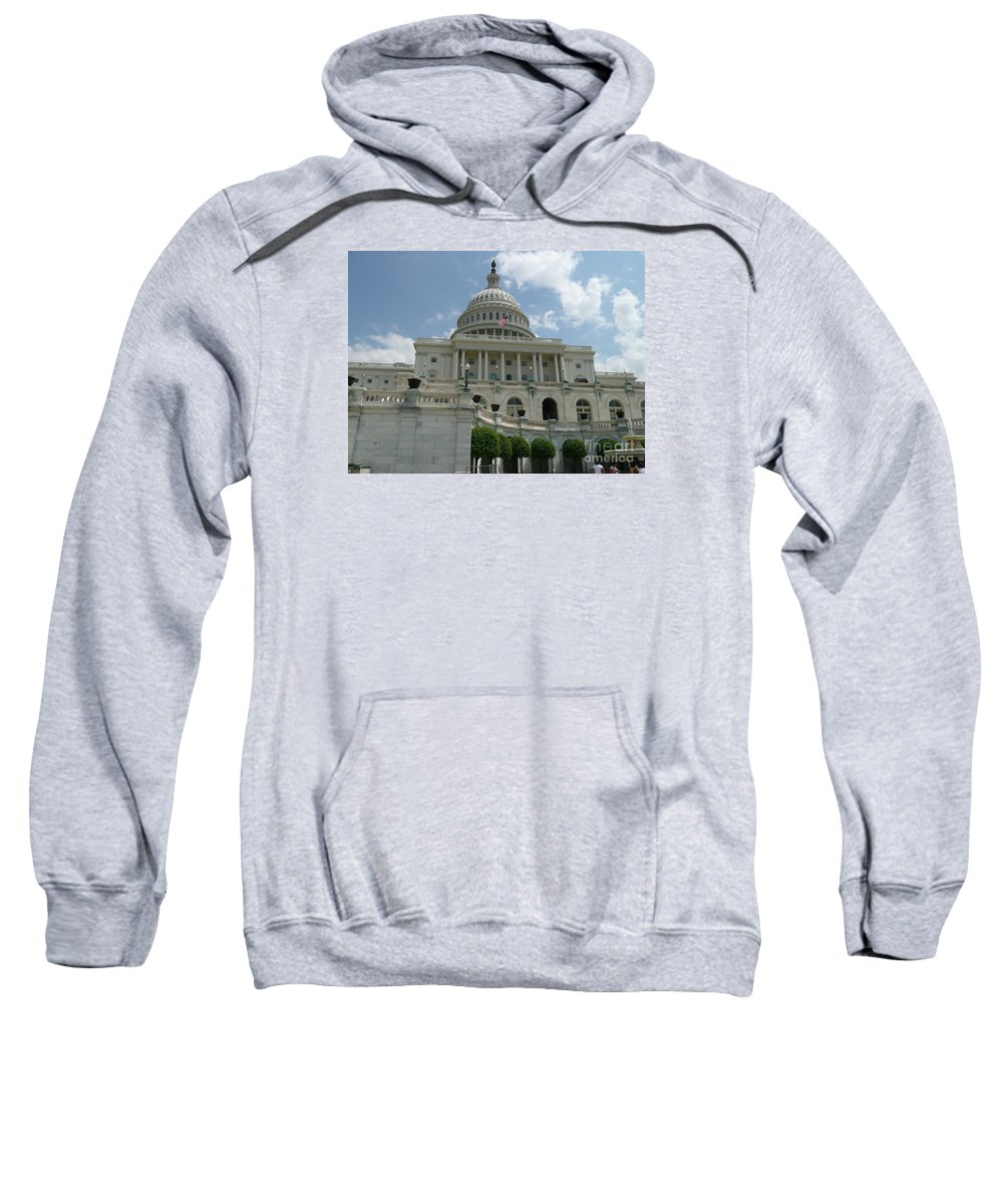 Capitol Sweatshirt featuring the photograph Capitol Building by Anita Goel