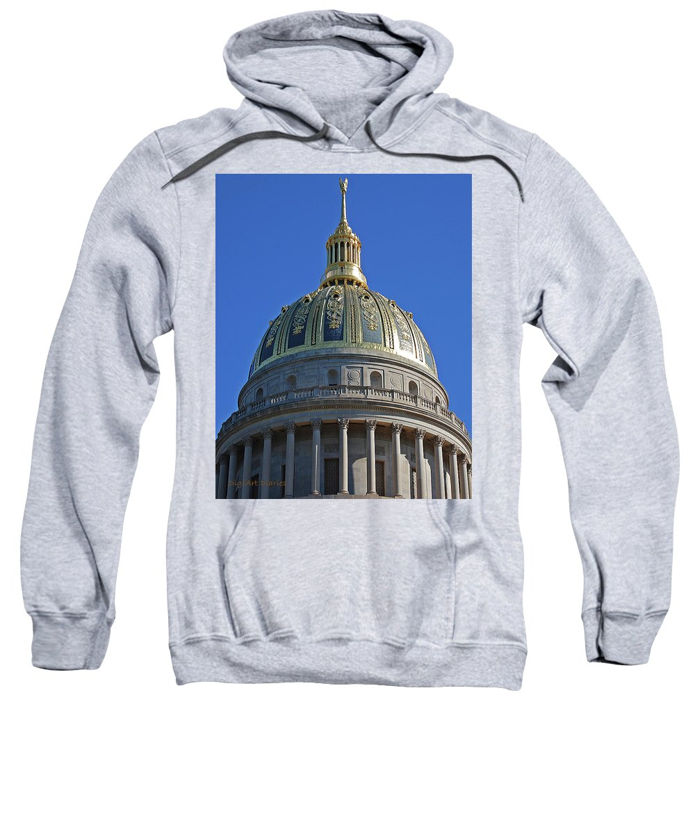 State Capitol Sweatshirt featuring the digital art Capitol Dome Charleston Wv by DigiArt Diaries by Vicky B Fuller