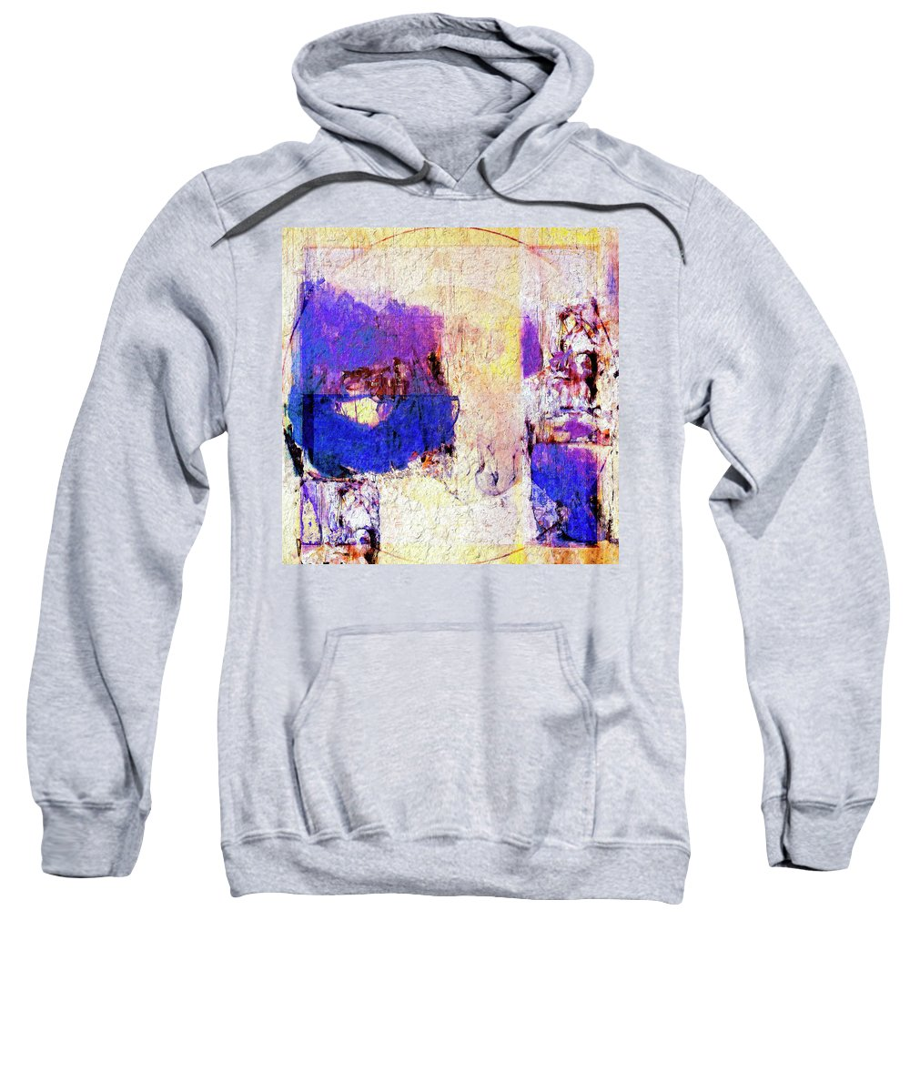 Abstract Sweatshirt featuring the painting Captiva by Dominic Piperata