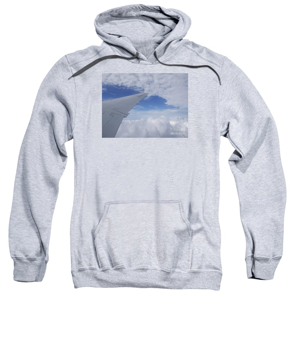 Clouds Sweatshirt featuring the photograph Carefree by Ann Horn
