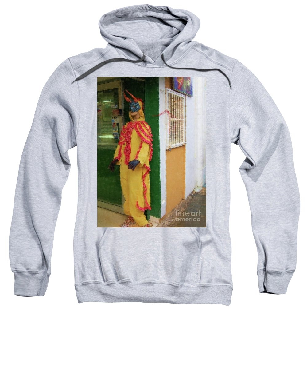 Mask Sweatshirt featuring the photograph Careta Hombre by Debbi Granruth