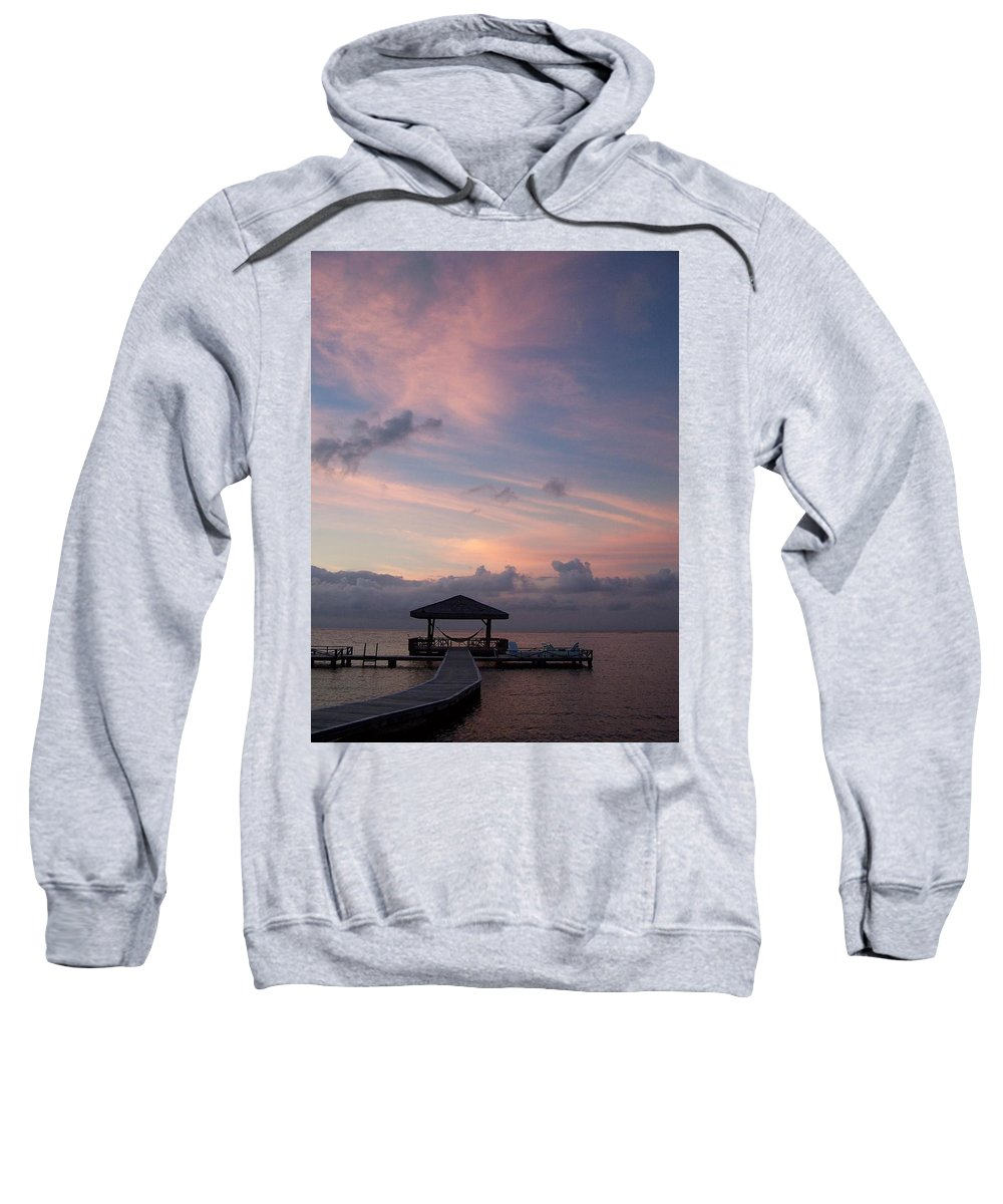 Ocean Sweatshirt featuring the photograph Caribbean Sunrise by Gale Cochran-Smith