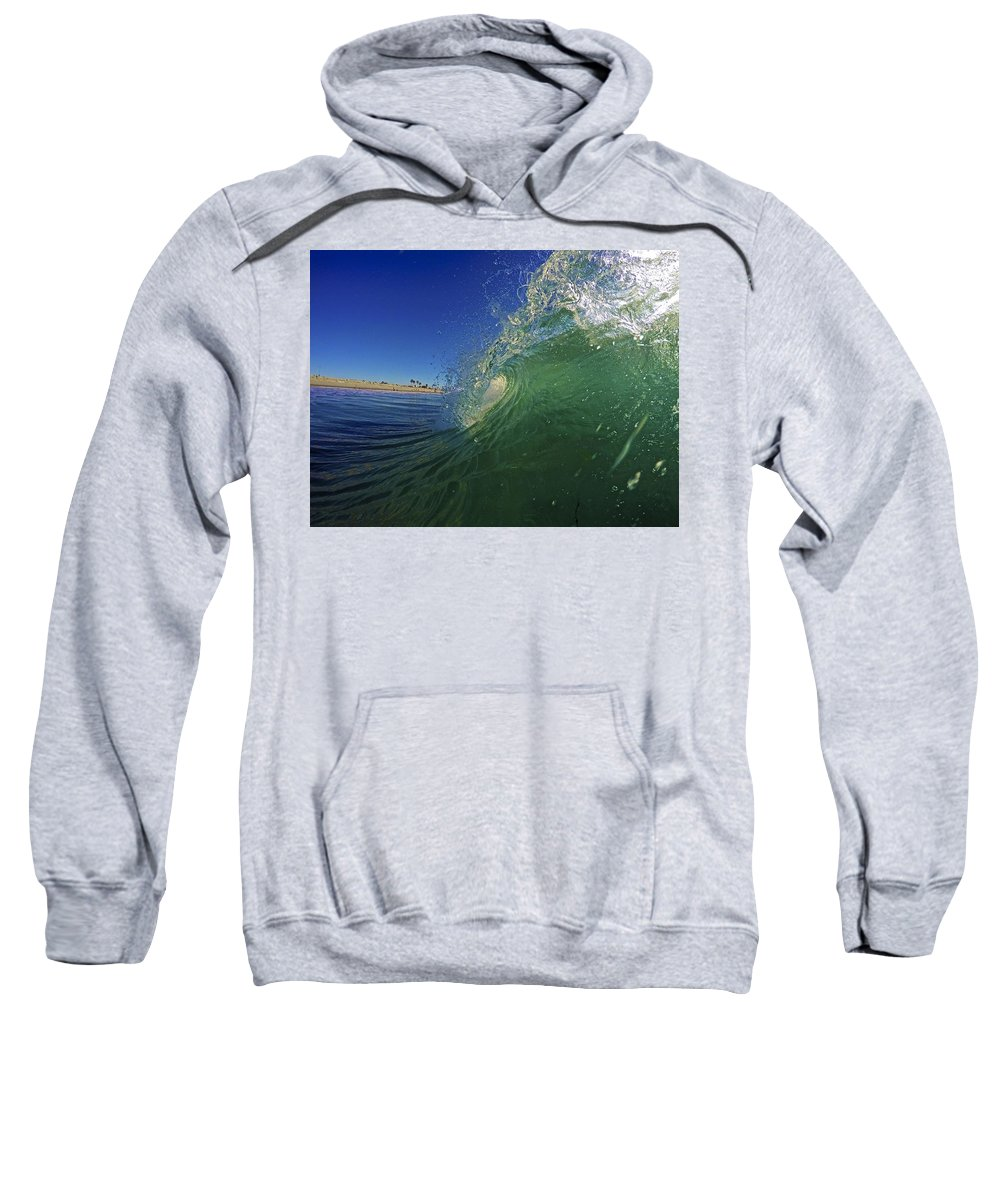 Wave Sweatshirt featuring the photograph Carlsbad Curl by Michael Cappelli