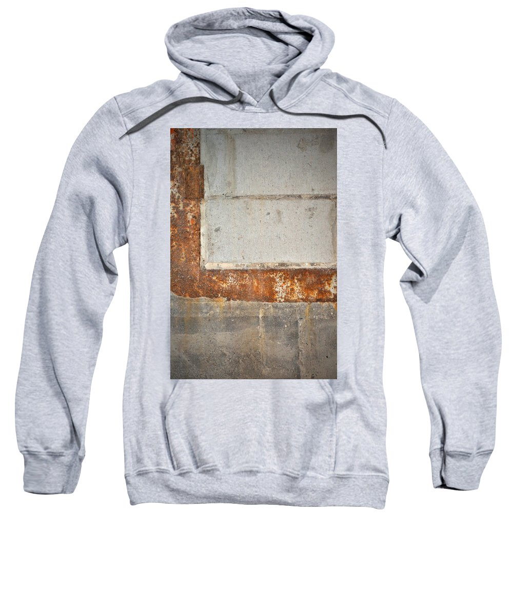 Architecture Sweatshirt featuring the photograph Carlton 14 - Abstract Concrete Wall by Tim Nyberg