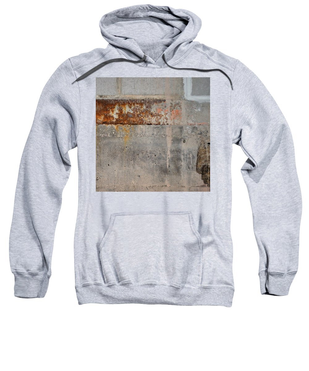 Concrete Sweatshirt featuring the photograph Carlton 16 Concrete Mortar And Rust by Tim Nyberg