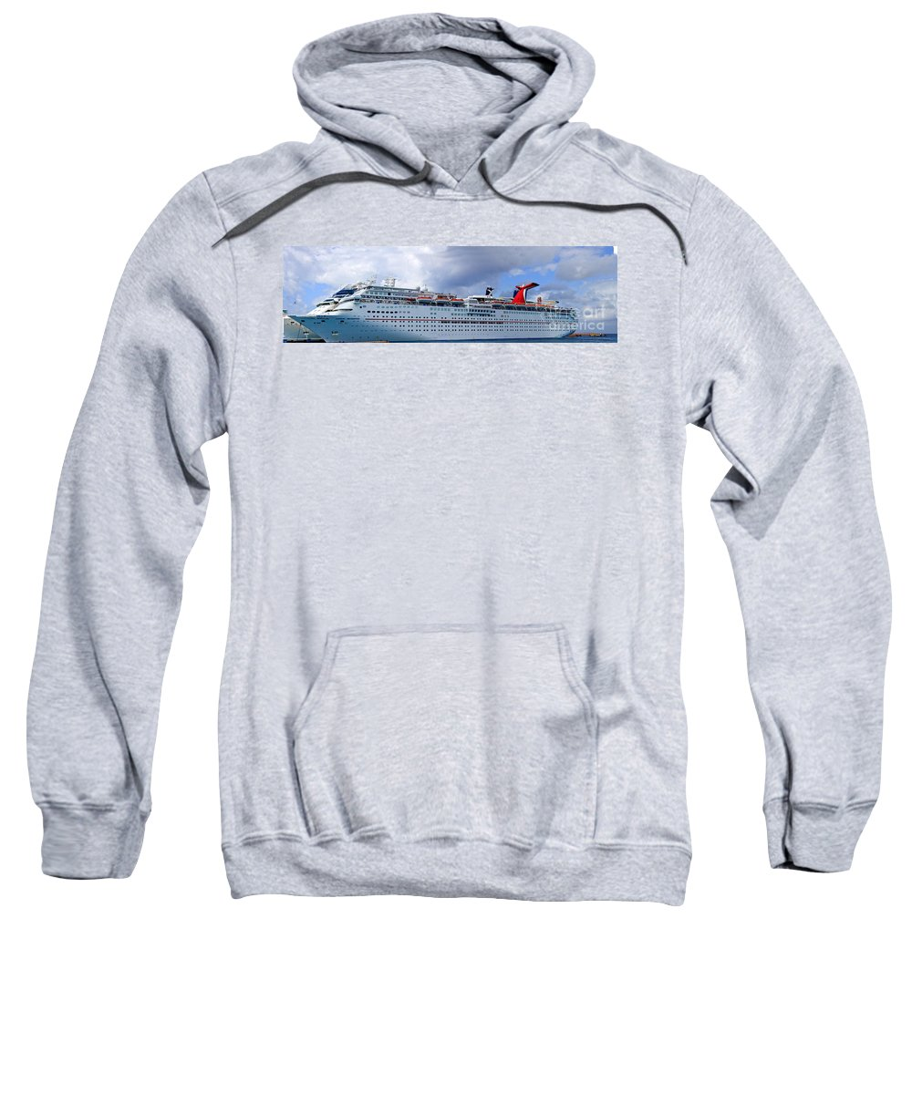 Carnival Sweatshirt featuring the photograph Carnival Cruise Ship by Thomas Marchessault