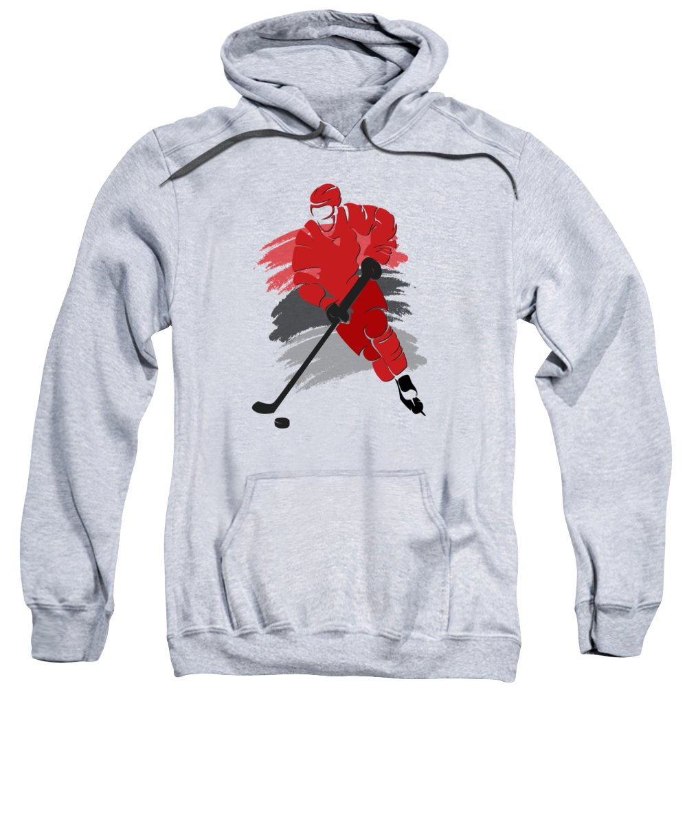 Hurricanes Sweatshirt featuring the photograph Carolina Hurricanes Player Shirt by Joe Hamilton