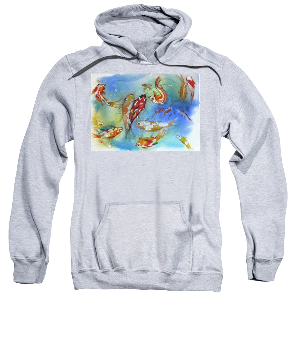 Goldfish Sweatshirt featuring the painting Carousel by Gina Hall