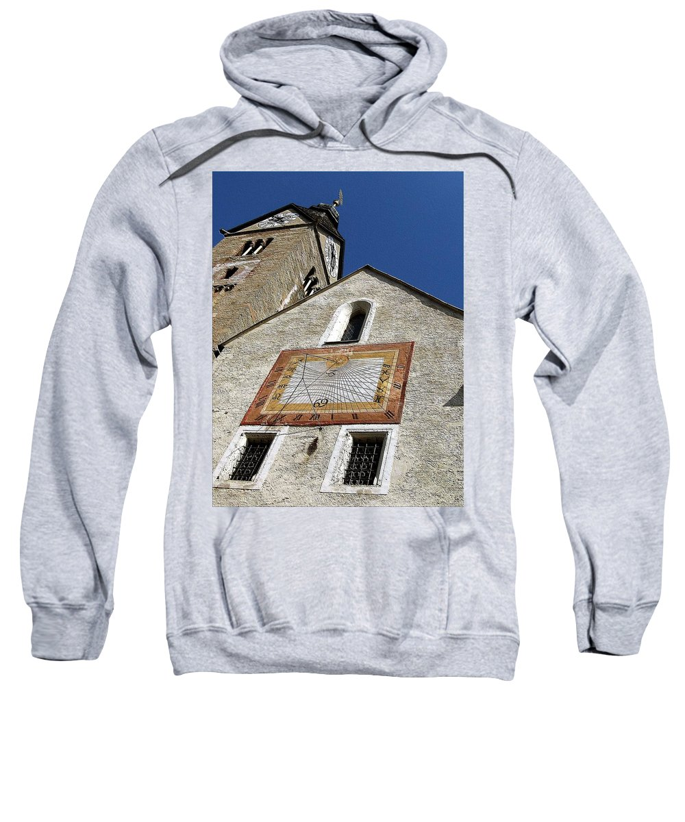 Sundial Sweatshirt featuring the photograph Carpe Diem IIi by Dragica Micki Fortuna