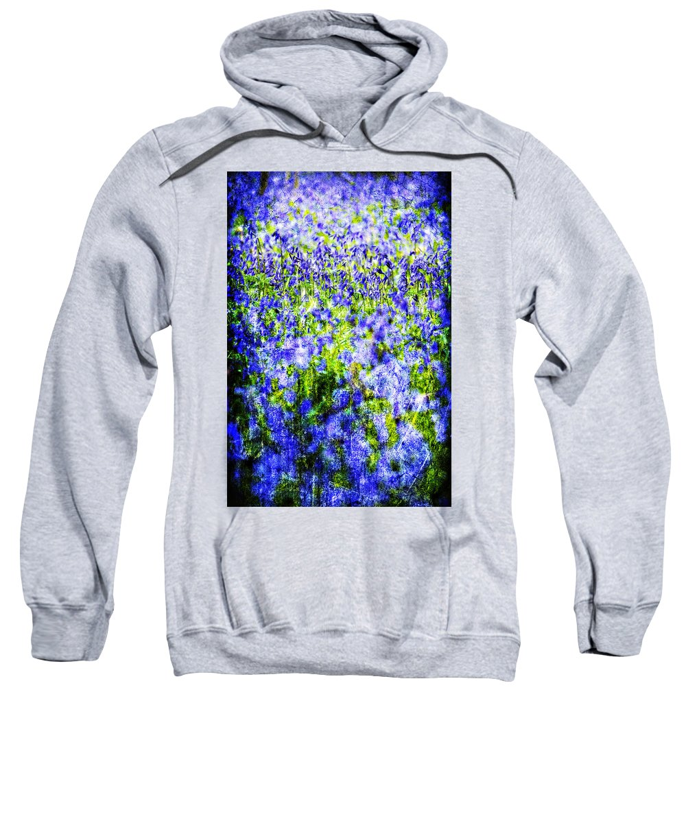 Flowers Sweatshirt featuring the photograph Carpet Of Blue by Meirion Matthias