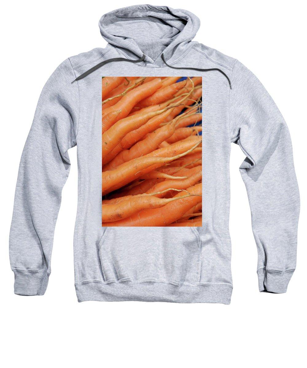 Carrots Sweatshirt featuring the photograph Carrot Market Bergen by KG Thienemann