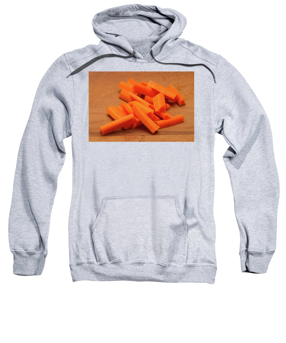 Carrot Sweatshirt featuring the photograph Carrot Sticks by Louise Heusinkveld