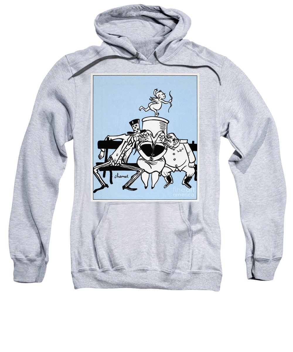 1949 Sweatshirt featuring the photograph Cartoon: Germany Divided by Granger