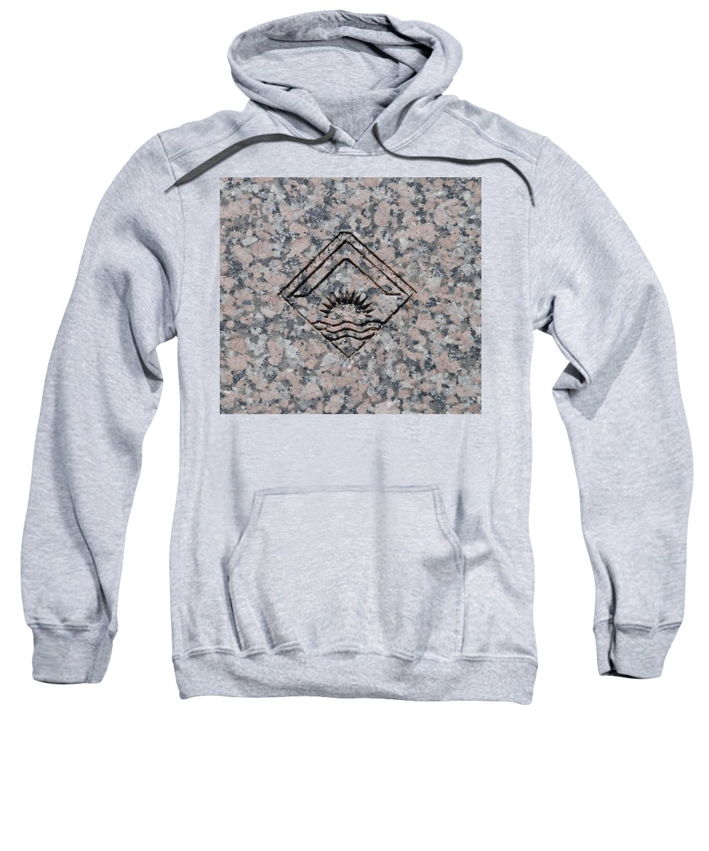 Sunset Sweatshirt featuring the photograph Carved Sunset by Rob Hans
