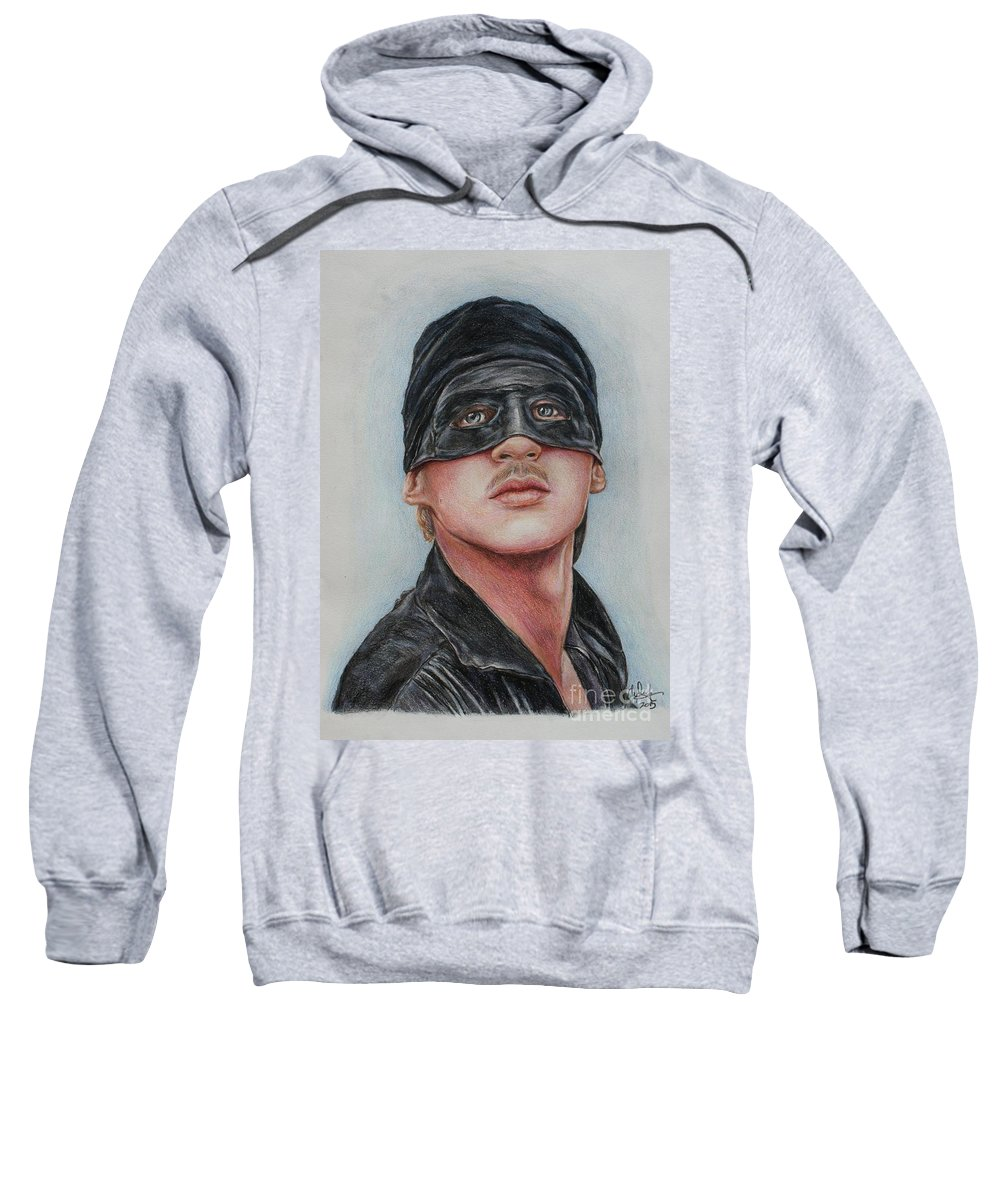 Cary Elwes Sweatshirt featuring the drawing Cary Elwes / Westley / The Princess Bride by Christine Jepsen