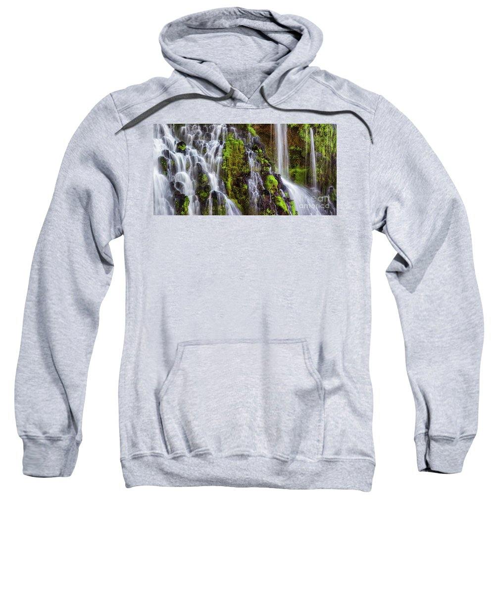 Waterfall Sweatshirt featuring the photograph Cascades Of Burney Falls by Anthony Michael Bonafede