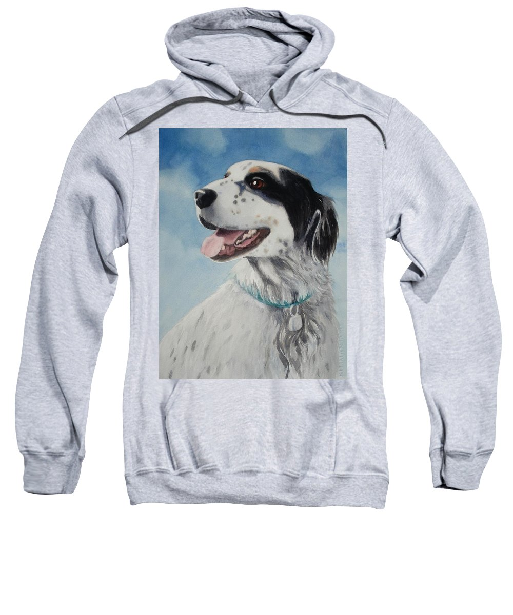 Dog Sweatshirt featuring the painting Casey by Marilyn Jacobson