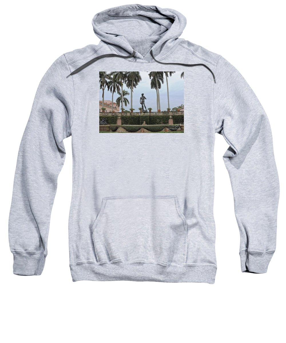 Statue Sweatshirt featuring the photograph Cast In Bronze by Beth Williams