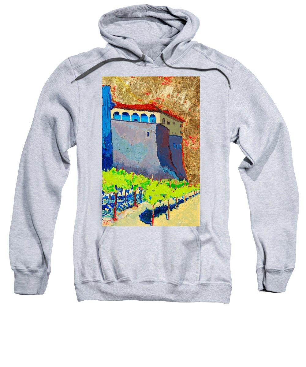 Castle Sweatshirt featuring the painting Castello Di Villafranca by Kurt Hausmann