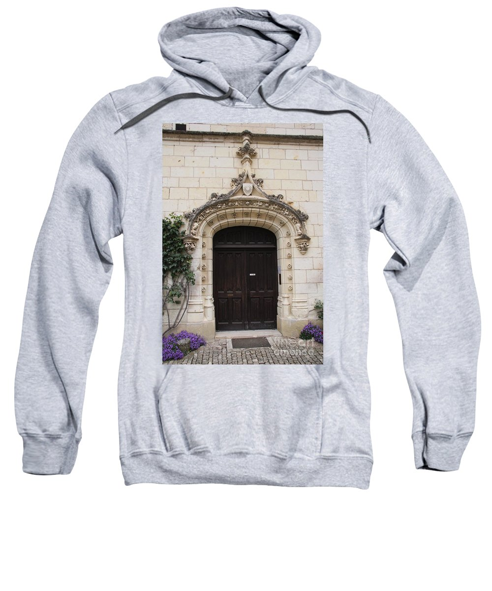 Door Sweatshirt featuring the photograph Castle Entrance Door by Christiane Schulze Art And Photography