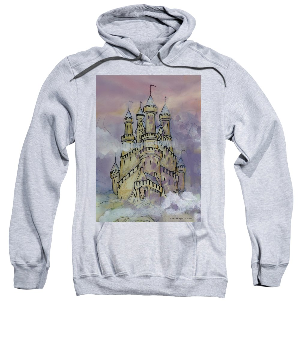 Castle Sweatshirt featuring the greeting card Castle by Kevin Middleton