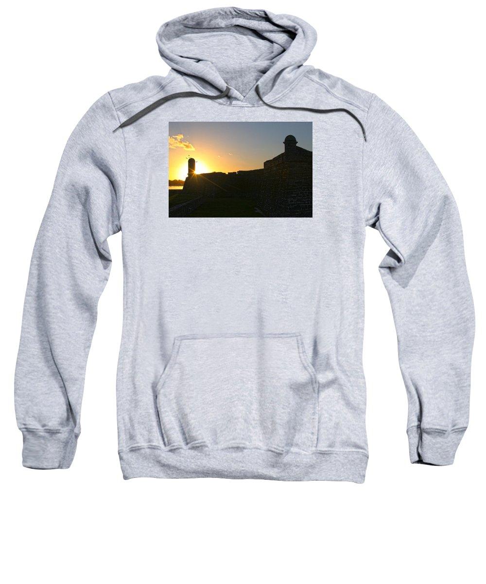 Ocean Sweatshirt featuring the photograph Castle St Augustine by Robert Och