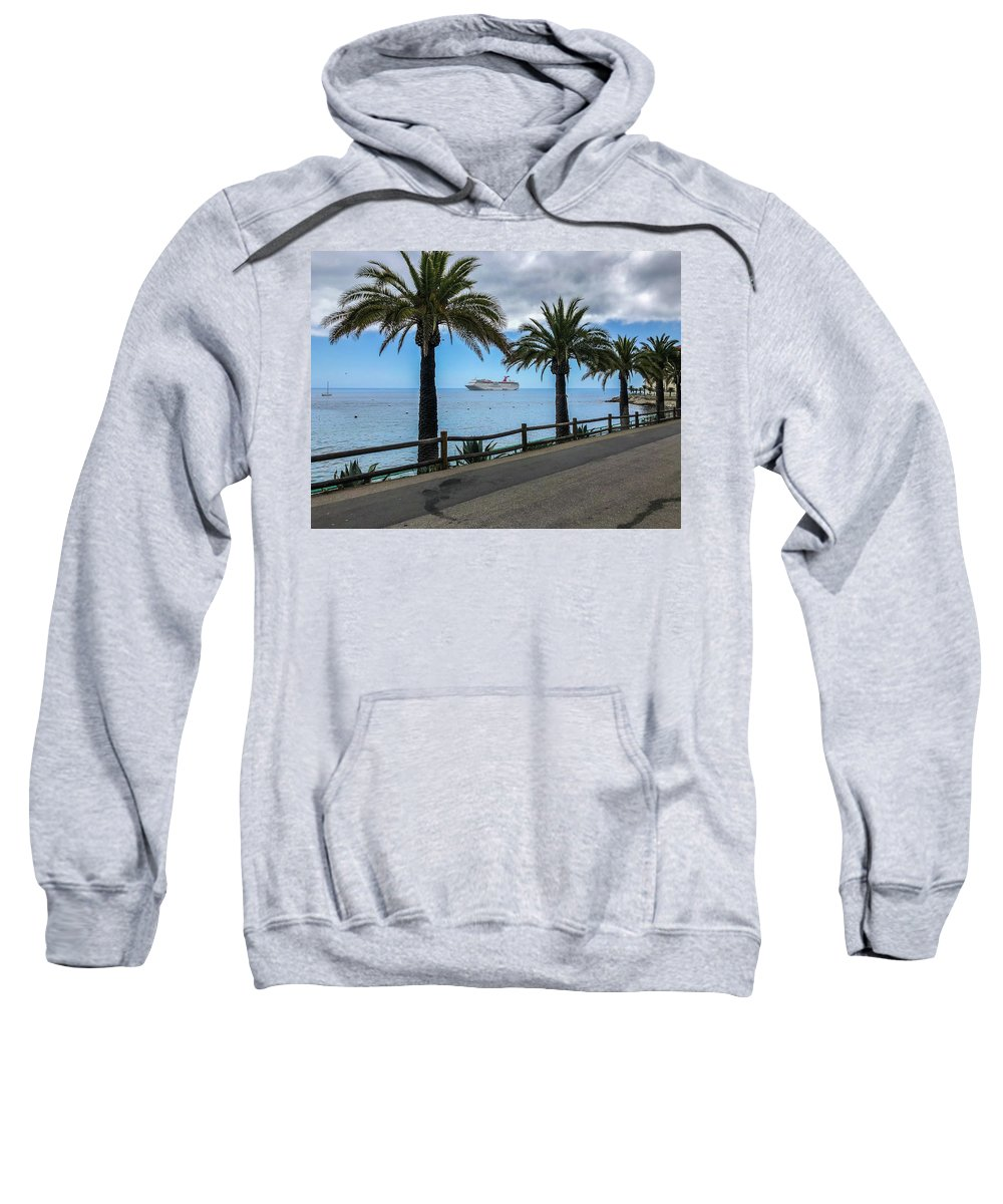 Outdoor Sweatshirt featuring the photograph Catalina Palms by Dave Muesbeck