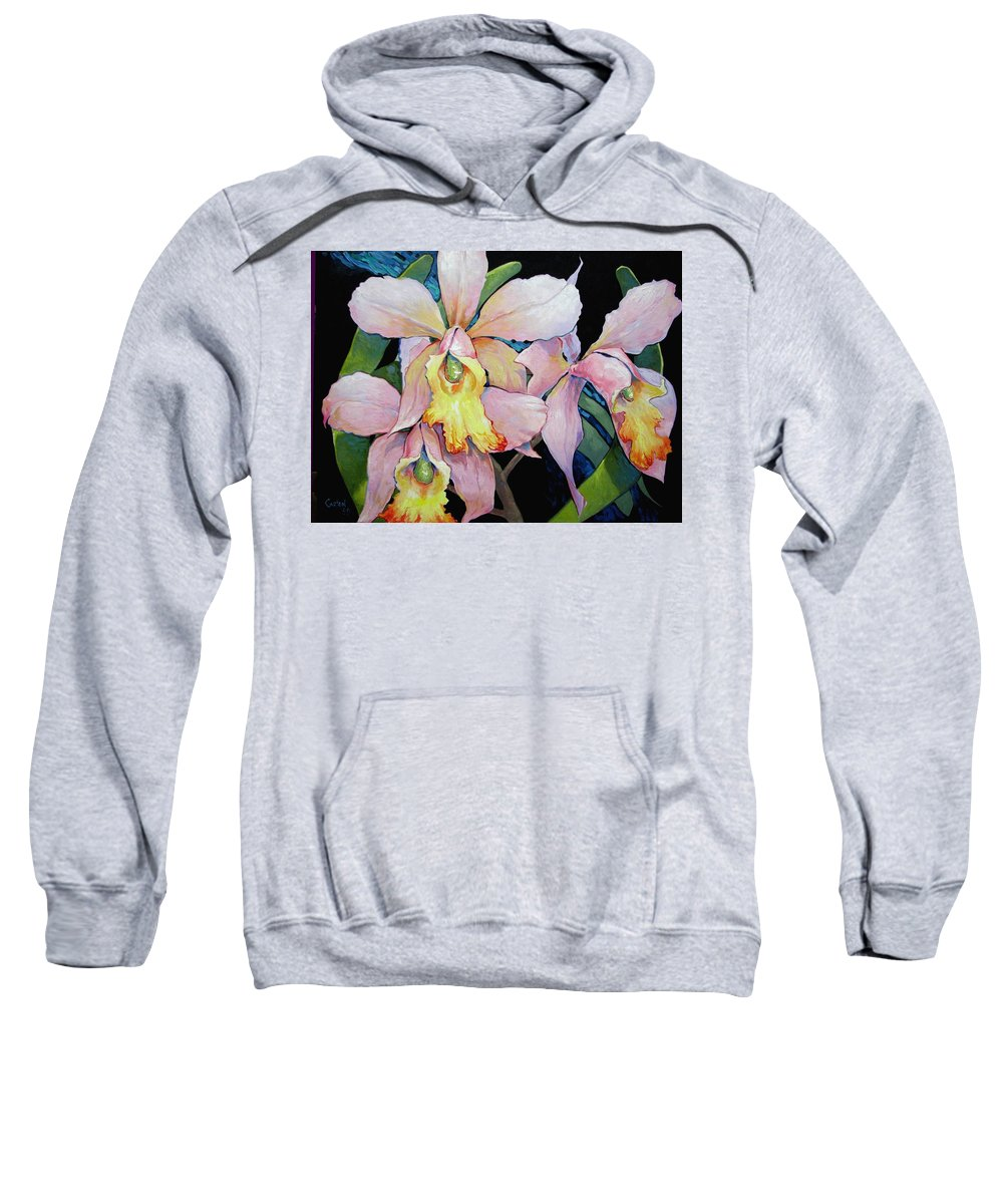 Catalya Sweatshirt featuring the painting Catalya Arrangement by Jerrold Carton