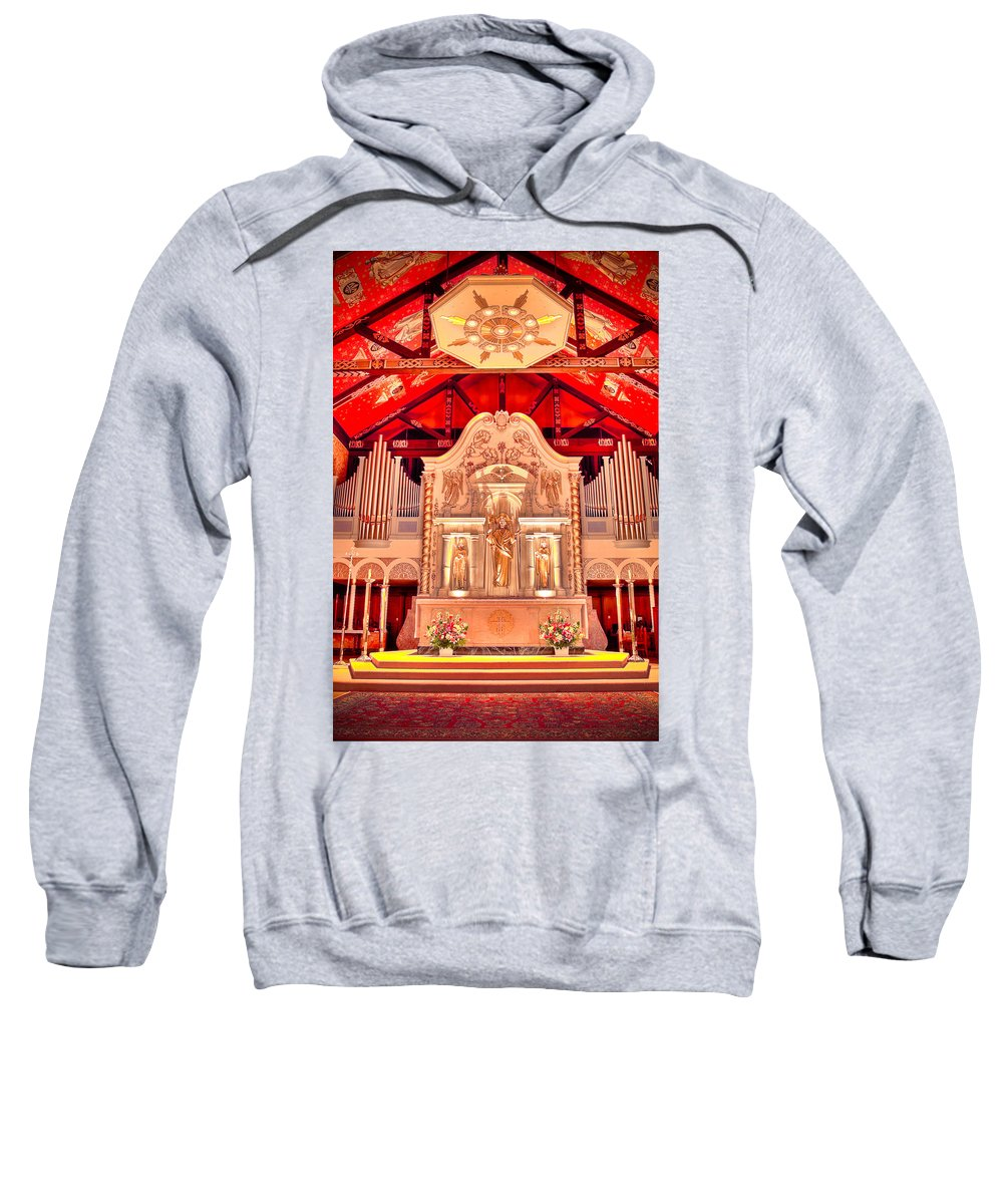 Cathedral Sweatshirt featuring the photograph Cathedral Basilica Of St. Augustine by Rich Leighton