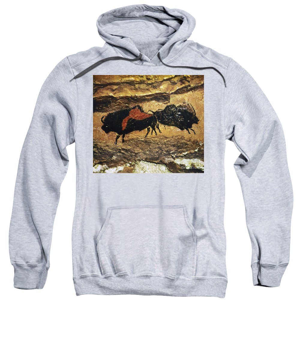 15000 Sweatshirt featuring the photograph Cave Art: Bison by Granger