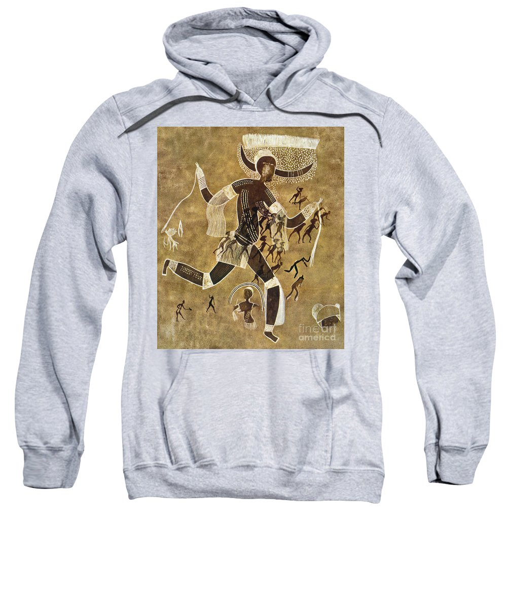 African Sweatshirt featuring the photograph Cave Art by Granger