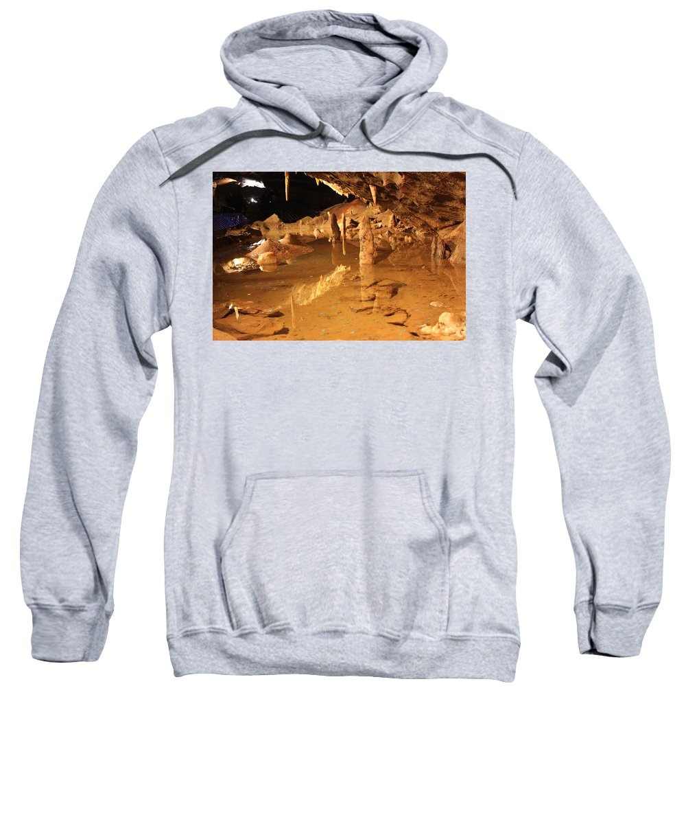 Cave Sweatshirt featuring the photograph Cave Reflections by Lauri Novak