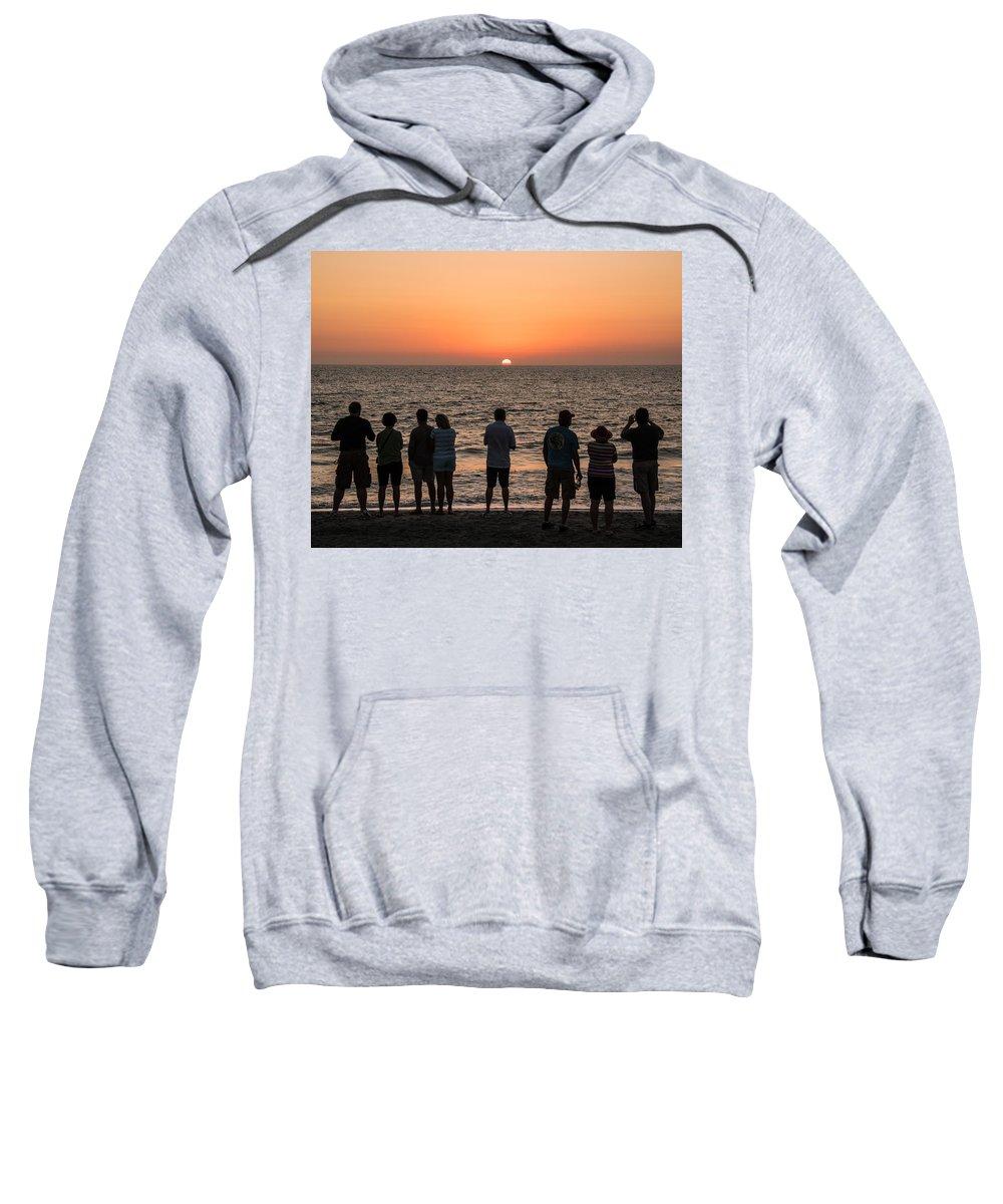 Sunset Sweatshirt featuring the photograph Celebrating The Sunset by Karen Regan